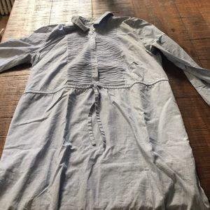 J. Crew medium chambray shirt dress with pockets